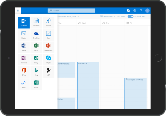 Sharepoint shown in an ipad