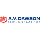 AV Dawson - Road - Rail - Land - Sea. Logo feature the AV Dawson shield